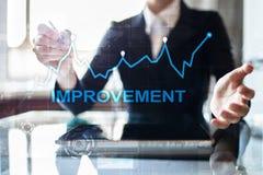 Graphique d'amélioration sur l'écran virtuel Concept d'affaires et de technologie images stock