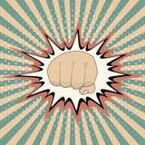 Graphique d'explosion d'accident de bande dessinée de poing de bande dessinée d'art de bruit de vecteur, frapper d'Art Punching F Image libre de droits