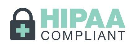 Graphique d'icône de conformité de HIPAA illustration libre de droits
