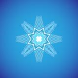 Graphique d'icône de flocon de neige Vecteurs de flocon de neige Photographie stock
