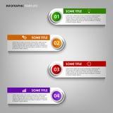 Graphique d'infos avec le calibre coloré de conception de labels Photo libre de droits