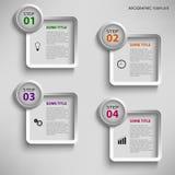 Graphique d'infos avec le calibre de place de conception Photos libres de droits