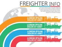 Graphique d'infos de transport comprenant le bateau de navire illustration stock