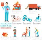 Graphique d'infos des services d'assurance commerciale Photo libre de droits