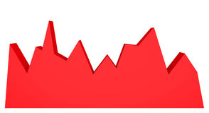 graphique 3d rouge sur le fond blanc Diagramme abstrait Image stock