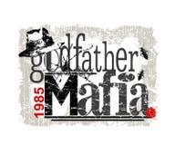 """graphique de """"parrain-Mafia """", copie de tee-shirt illustration libre de droits"""