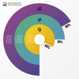 Graphique de cercle de graphique circulaire Calibre moderne de conception d'Infographics Vecteur Image stock
