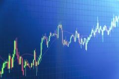 Graphique de chandelier, affaires et concept financier images stock
