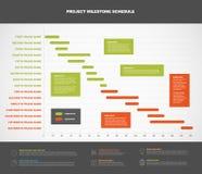 Graphique de chronologie de projet de vecteur illustration de vecteur
