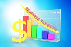 Graphique de croissance avec le symbole dollar Photographie stock