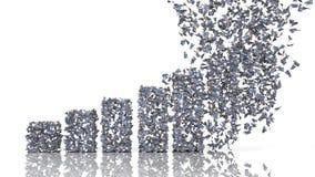 Graphique de croissance des billets de banque de franc suisse Photo stock