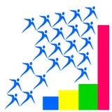 Graphique de croissance de logo de dessin de vecteur illustration libre de droits