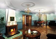 Graphique de décor de luxe d'intérieur Images libres de droits