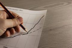 Graphique de dessin de main de croissance Images stock