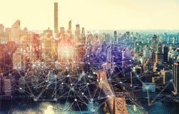 Graphique de Digital avec New York City photo stock