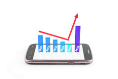 Graphique de finances Images stock