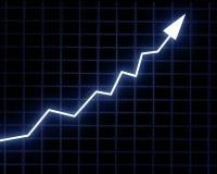 Graphique de flèche affichant la réussite Photo stock