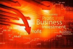 Graphique de flèche d'affaires Image stock