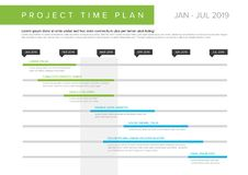 Graphique de Gantt de plan de temps de projet de vecteur illustration de vecteur