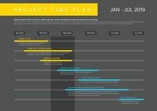 Graphique de Gantt de plan de temps de projet de vecteur illustration stock