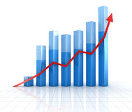 Graphique de gestion Photo stock