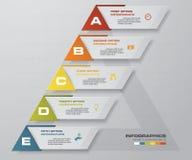 Graphique de gestion abstrait 5 étapes diagram la disposition de calibre/graphique ou de site Web Vecteur Idée étape-par-étape Photos libres de droits