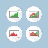Graphique de gestion de hausse et de chute Photos stock