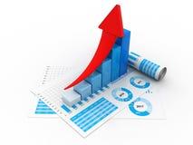 graphique de gestion du rendu 3d et documents, concept de marché boursier illustration de vecteur