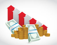 graphique en baisse d 39 argent photo stock image 32142440. Black Bedroom Furniture Sets. Home Design Ideas