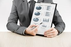 Graphique de gestion montrant le succès financier Image stock