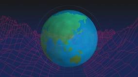 Graphique de globe et de paysage illustration libre de droits