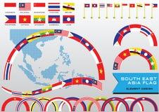 Graphique de l'AEC ou d'ASEAN ou d'infos Photographie stock