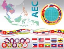 Graphique de l'AEC ou d'ASEAN ou d'infos Photographie stock libre de droits