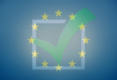 Graphique de l'Europe Tick Check Design Blue illustration libre de droits