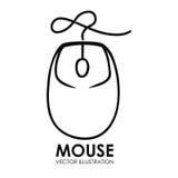 Graphique de l'illustration eps10 de vecteur de conception d'icône de souris Photo stock