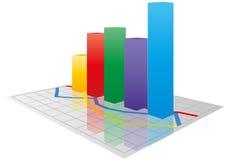 Graphique de la couleur 3d Image libre de droits