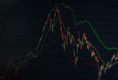 Graphique de marché boursier Images stock