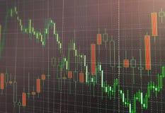 Graphique de marché boursier et diagramme marchands de chandelier approprié au concept d'investissement Fond abstrait de finances images libres de droits