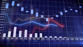 Graphique de marché boursier et histogramme Images stock