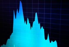 Graphique de marché boursier Fond abstrait de finances image stock