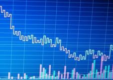 Graphique de marché boursier sur l'affichage d'ordinateur Diagra d'analyse commerciale photographie stock libre de droits
