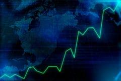 Graphique de marché financier illustration libre de droits