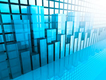 Graphique de marché boursier et histogramme Fond d'affaires Photographie stock