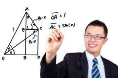 Graphique de mathématiques de retrait Images stock