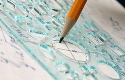Graphique de maths Photos stock