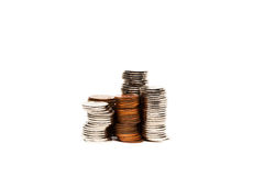 Graphique de pièce de monnaie - image courante Photo stock