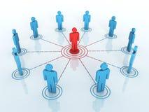 Graphique de réseau d'affaires illustration libre de droits