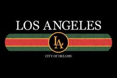 Graphique de slogan de Los Angeles pour le T-shirt Copie de typographie de mode pour les vêtements et le tee-shirt de conception  illustration libre de droits