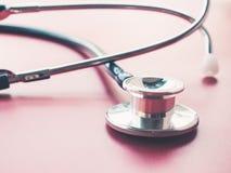 Graphique de stéthoscope et d'électrocardiogramme Photo stock