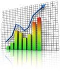 Graphique de statistiques commerciales Image libre de droits